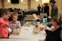 Gingerbread house fun for the kids
